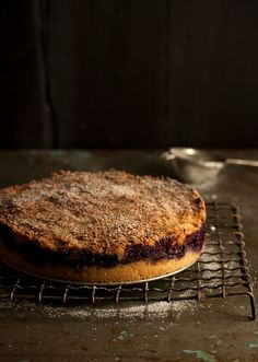This homemade coffee cake recipe for Deep Apple and Blueberry Streusel Cake from Drizzle and Dip has that rustic, country feel we've come to love. Packed with fruit inside a buttery cake, this recipe is a must-have this winter.