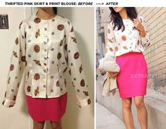 Fiting blouse pink