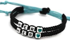 Couples Bracelets Hers and Hers Bracelets Her Her by LDnest, $15.99