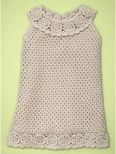 crocheted dress, toddler girl - gap.com    texture adds character, simple color is beautiful