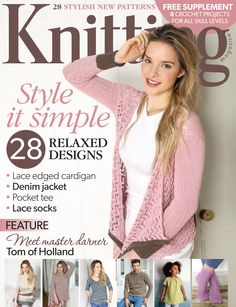 Knitting magazine issue 141, May 2015. 28 Relaxed Designs. Plus 'The Spring Crochet Collection' supplement.