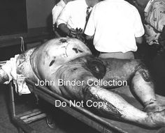 """William """"Action"""" Jackson in the morgue. Very, very rare photo! (Do Not Copy John Binder) (Ross Stanger)"""