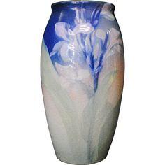 1901 Rookwood Iris glaze vase @rubylanecom #VintagePottery #rubylane