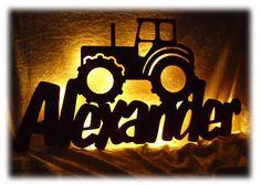 Strahler rondell traktor 3 flammig kinderzimmer for Traktor lampe kinderzimmer
