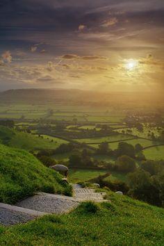 Glastonbury Tor Sunrise HDR by Nick Clarke