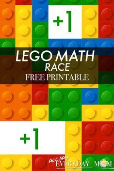 LEGO Math Race Board Game