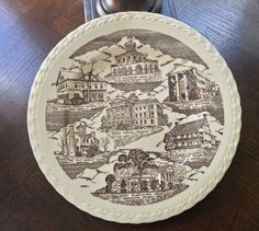 Vintage Plate Collector Plate Souvenir Plate by 4HollyLaneAntiques