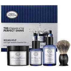 The Art of Shaving The 4 Elements of the Perfect Shave™ – Ocean Kelp by The Art of Shaving. $100.00. Provide optimal shaving results. Helps to prevent or minimize common shaving discomforts such as razor burn, ingrown hairs and nicks and cuts.. Ocean Kelp with Light Aromatic Essential Oils. Combine The Art of Shaving's shaving products, handcrafted accessories and expert shaving technique.. What it is:A four-piece collection of full-size The Art of Shaving essentials for a ...