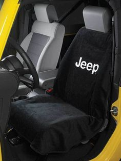 2007-2015 Jeep Wrangler SINGLE Front Black Seat Towel MOPAR BRAND NEW IN PACKAGE #Jeep Wrangler