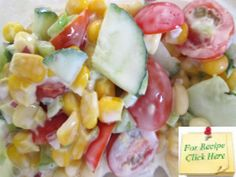 The simple dressing in this Cold Corn Salad allows the real taste of the veggies to come through.