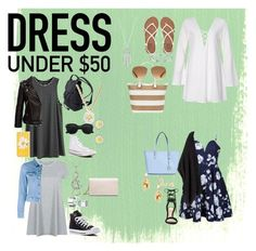 """""""Dresses Under $50"""" by livyhiggins ❤ liked on Polyvore featuring Ally Fashion, Anine Bing, Acne Studios, H&M, Converse, ALDO, Kate Spade, Lucky Brand, Billabong and Bling Jewelry"""