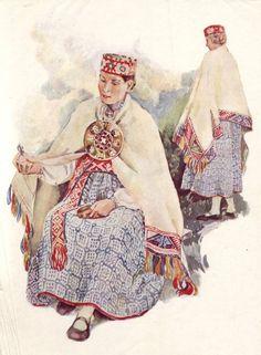 Folk costume of Saka, Latvia