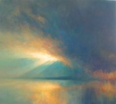 Light Storm - Oil painting of Sky and Light.