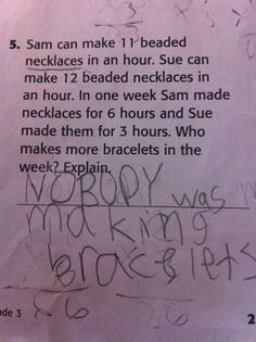 Absolutely would give full credit on this answer!! This is what Addie would write!! LOL