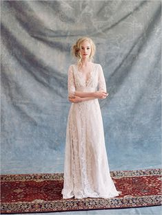 20 Long Sleeve Wedding Gowns: Claire Pettibone