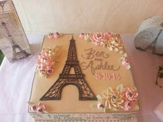 Your carbon foot print is a lot less than the typical wedding making it quite a eco-friendly event! Paris Themed Cakes, Paris Cakes, Paris Birthday Parties, Paris Party, Eiffel Tower Cake, Eiffel Towers, White Flower Cake Shoppe, Teacher Cakes, Birthday Sheet Cakes