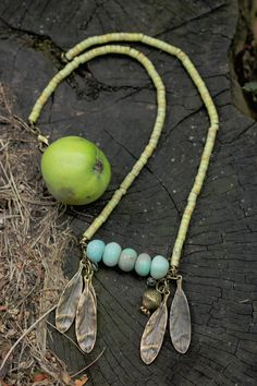Summer End Necklace Seasonal jewelry light weight by FableBubble