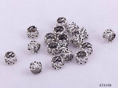 10x6mm Metal Charms Making Crafts Jewelry Findings Letter S Links Ring