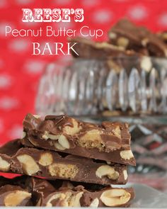Reese's Peanut Butter Cup Bark-sure to satisfy and chocolate and peanut butter lover.