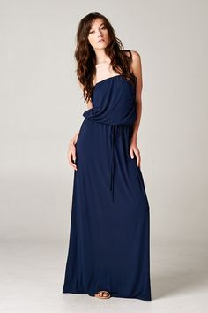 Kelly Maxi Dress in Navy