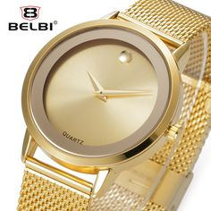 Belbi Top Brand Luxury Women Watch Fashion Steel Alloy Quartz Watches Ladies Gold Simple Style Casual Wristwatch Elegant Relojes