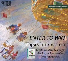 Create beautiful paintings, sketches and watercolors from your photos with Topaz Impression.