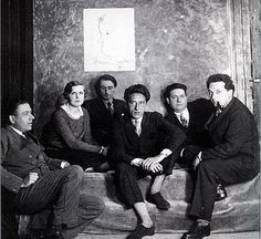 Les Six, left to right: Francis Poulenc, Germaine Taileferre, Louis Durey, Jean… Old Music, Music Like, Sound Of Music, Francis Poulenc, Jean Cocteau, People Of Interest, Music Composers, Ballet, Types Of Music
