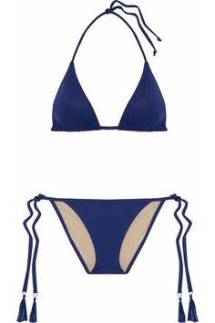 Shop on-sale Triangle bikni. Browse other discount designer Bikini Sets & more luxury fashion pieces at THE OUTNET Blue Triangle Bikini, Blue Bikini, Bikini Set, Bikini Tops, Tart Collections, Bikinis For Sale, String Bikinis, Luxury Fashion, Banks