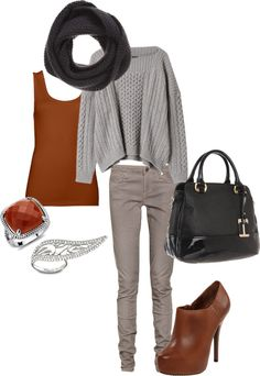 """fall basics"" by rissygirl on Polyvore"