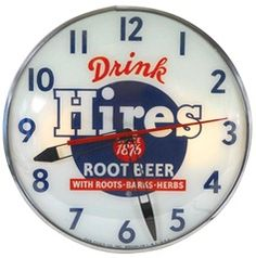 """Time For Hires Root Beer"" (Clock)"