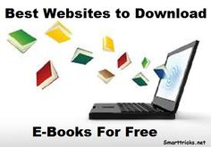 Websites to Download eBooks Free - Smart Tricks