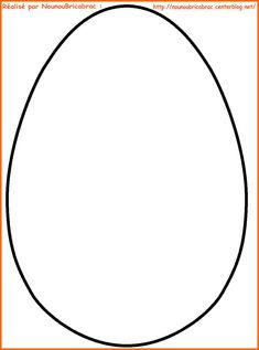 Oeuf de Pâques... à décorer ou à colorier !