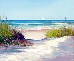 """Beach Path"" weather print for sauna"