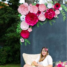 Number One Seller! This pretty group of paper flowers is always a best seller. Gorgeous blooms in shades of pink from light to dark