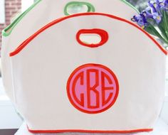 Monogrammed GG Canvas Bag with Applique