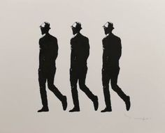 "Saatchi Art Artist Tehos Frederic CAMILLERI; Drawing, ""Three Walking Men"" #art"