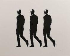 "Saatchi Art Artist Tehos Frederic CAMILLERI; Drawing, ""Three Walking Men"" #art"