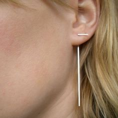 18K Gold Sticks  Earrings by LAUREN ELGEE-CANADA/USA on Etsy, $185.00