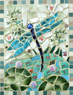 Hey, I found this really awesome Etsy listing at https://www.etsy.com/listing/164844324/ceramic-dragonfly-lily-pond-mosaic-card