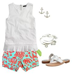 """""""Lilly! 1 more to 700!"""" by sc-prep-girl ❤ liked on Polyvore featuring Lilly Pulitzer, J.Crew, Jack Rogers, Vera Bradley and Dogeared"""