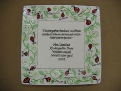 ladybug fingerprint class teacher gift by Pottery Piazza. idea from ccsa share