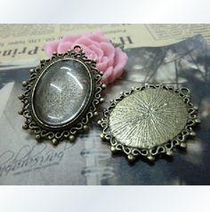 18X25mm 10X Bronze Oval Cameo Setting  Y442