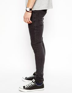 Extreme Super Skinny Jeans In Faded Black 7f74560024ae