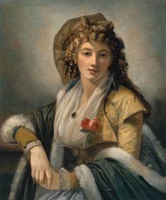 Anna Maria Ferri, the Artist's First Wife Vers 1790-9, by Robert Fagan (vers 1745-1816)