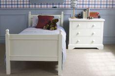 Fargo Single bed - Ivory White, Little Folks Furniture Childrens Single Beds, Childrens Bedroom, Bed Mattress, White Bedding, Kid Beds, Bed Frame, Bedroom Furniture, Ivory White, Paint Finishes