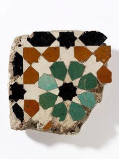 Tile mosaic fragment from Alhambra.