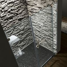 Frameless Shower Door - modern - showers - new york - VIGO - wiebke Modern Shower, Modern Bathroom, Master Bathroom, Bathroom Ideas, Man Shower, Walk In Shower, Rock Shower, Stone Shower, Small Bathroom With Shower