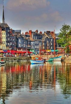 Honfleur - Normandy, France Etretat Normandie, Normandie France, Great Places, Places To See, Beautiful Places, Belle France, Honfleur, Voyage Europe, French Countryside