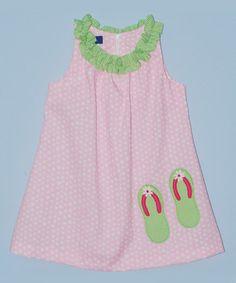 Another great find on #zulily! Pink Flip-Flop Swing Dress - Infant, Toddler & Girls #zulilyfinds
