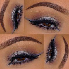 phernandez_mk using @rccosmetics Gel Eyeliner in #13 applied with their eyeliner brush ▪️ @marykayus eyeshadows in Lavender Fog, Driftwood, Sweet Cream, Silky Caramel, Sterling